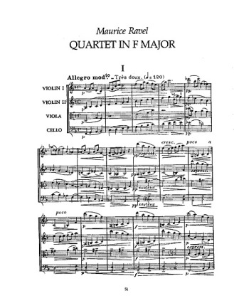 Partition quatuor ravel